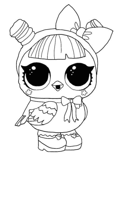 Lol Suprise Doll Hootie Cutie Coloring Page