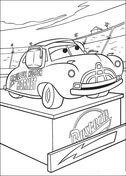 Doc Hudson on a pedestal from Disney Cars