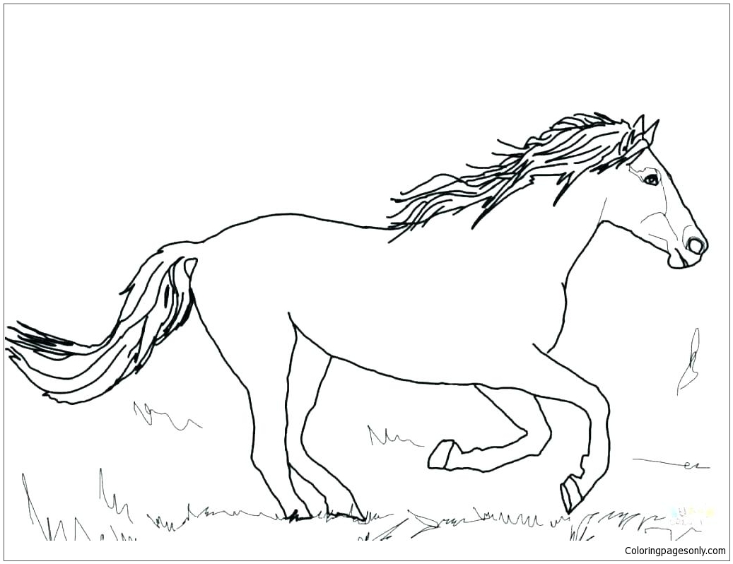 Horse Cute 4 Coloring Page - Free Coloring Pages Online