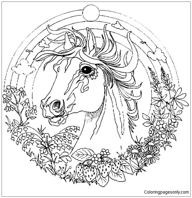 Horse Mandala Coloring Page Free Coloring Pages Online