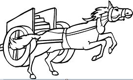 Horse Pulling A Chariot Coloring Page