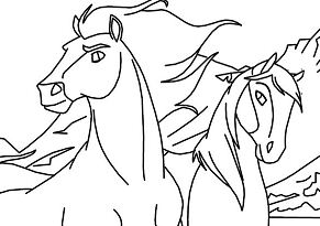 Horse Spirit Coloring Page