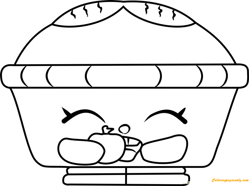 Hot Apple Pie Shopkin Coloring Page