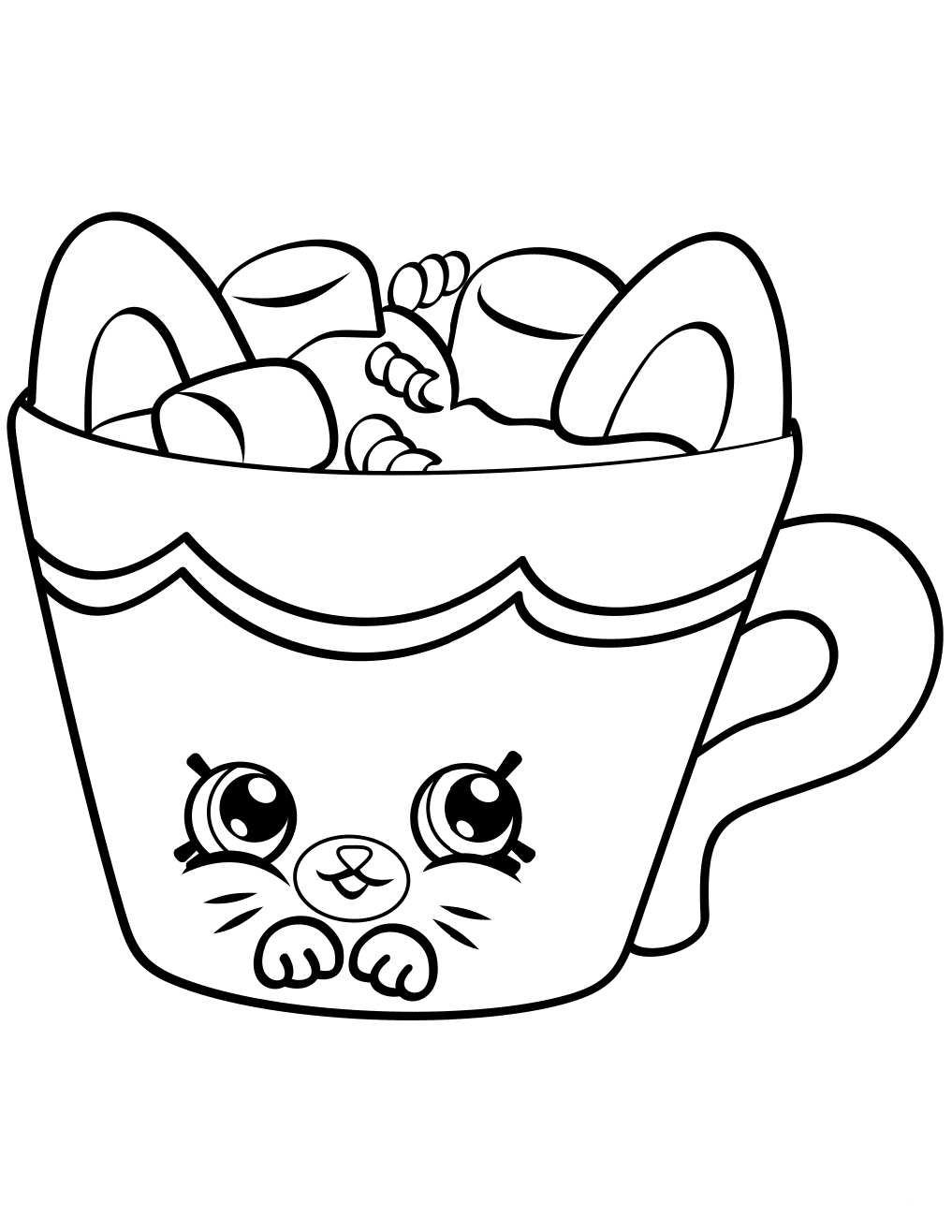 Shopkins coloring pages wishes - Hot Choc Shopkin Season 4