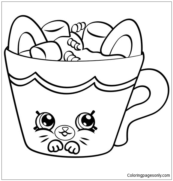 Hot Choc Shopkins Coloring Pages - Toys And Dolls Coloring Pages - Free Printable  Coloring Pages Online