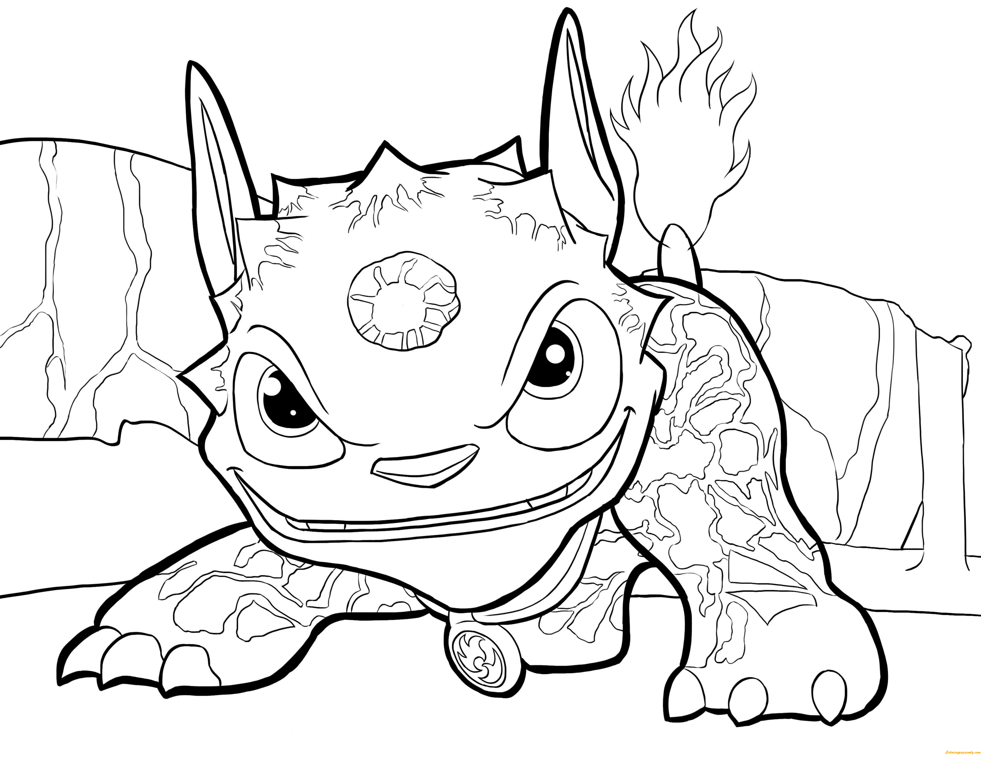 Hot Dog Skylanders Coloring Page - Free Coloring Pages Online