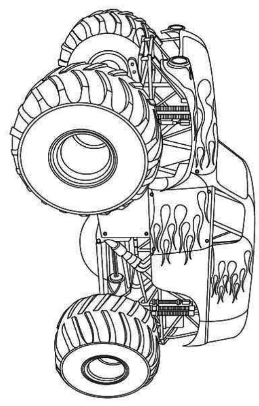 Hot Wheels Monster Truck Coloring Page