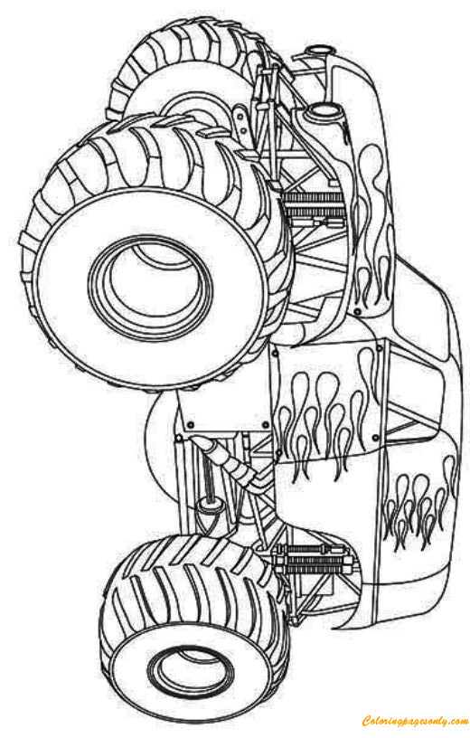 Hot Wheels Monster Truck Coloring