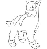 Houndour From Pokemon Coloring Page