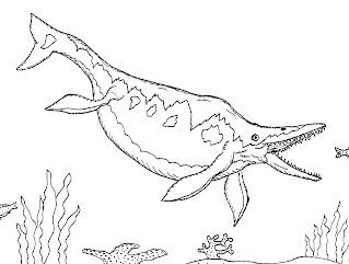 Ichthyosaur Coloring Pages - ColoringPagesOnly.com Ichthyosaurus Coloring Page