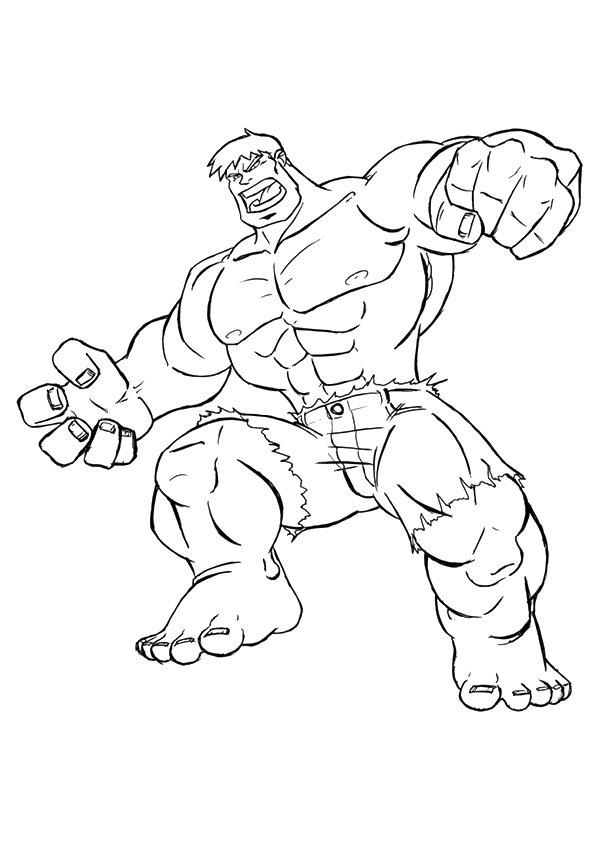 Hulk Genius Scientist Coloring Page