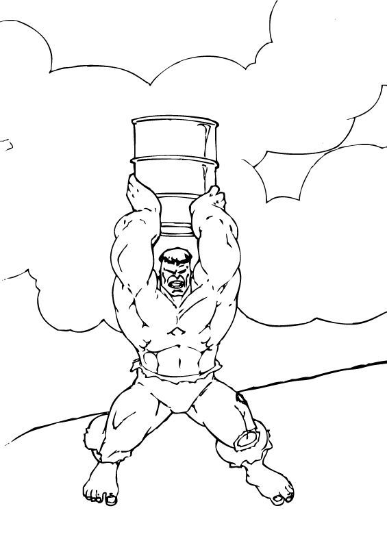 Hulk Lifts Large Barrel