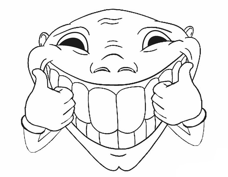 Humorous Face Coloring Page