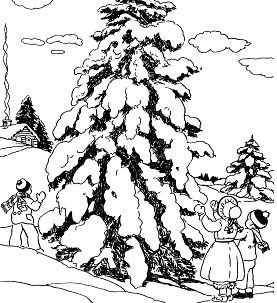 Hunting For A Christmas Tree Coloring Page