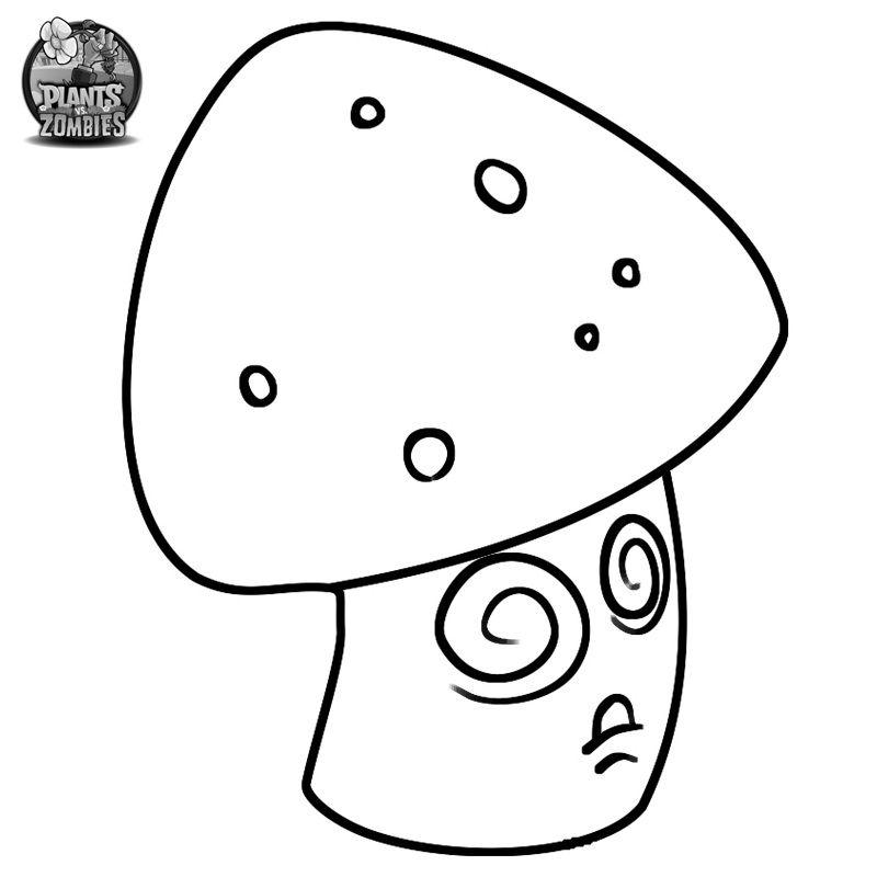 Hypno-shroom Coloring Page