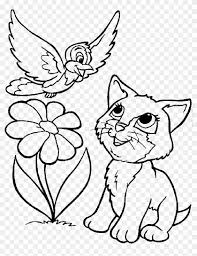 I Love Cat Coloring Page