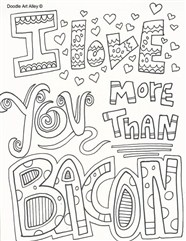 I Love You More Than Coloring Page