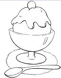 Ice Cream 3 Coloring Page