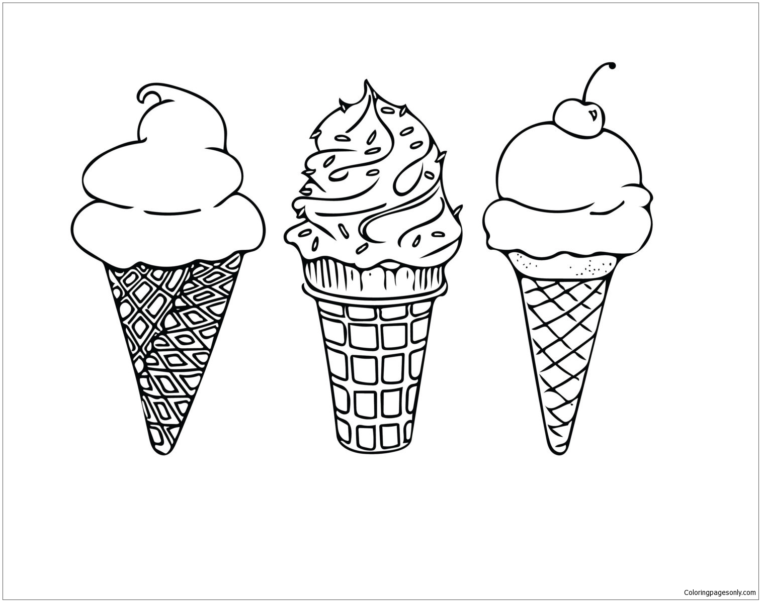 - Ice Cream 4 Coloring Page - Free Coloring Pages Online