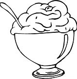 Ice Cream Cup 1 Coloring Page