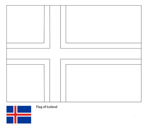 Flag of Iceland-World Cup 2018