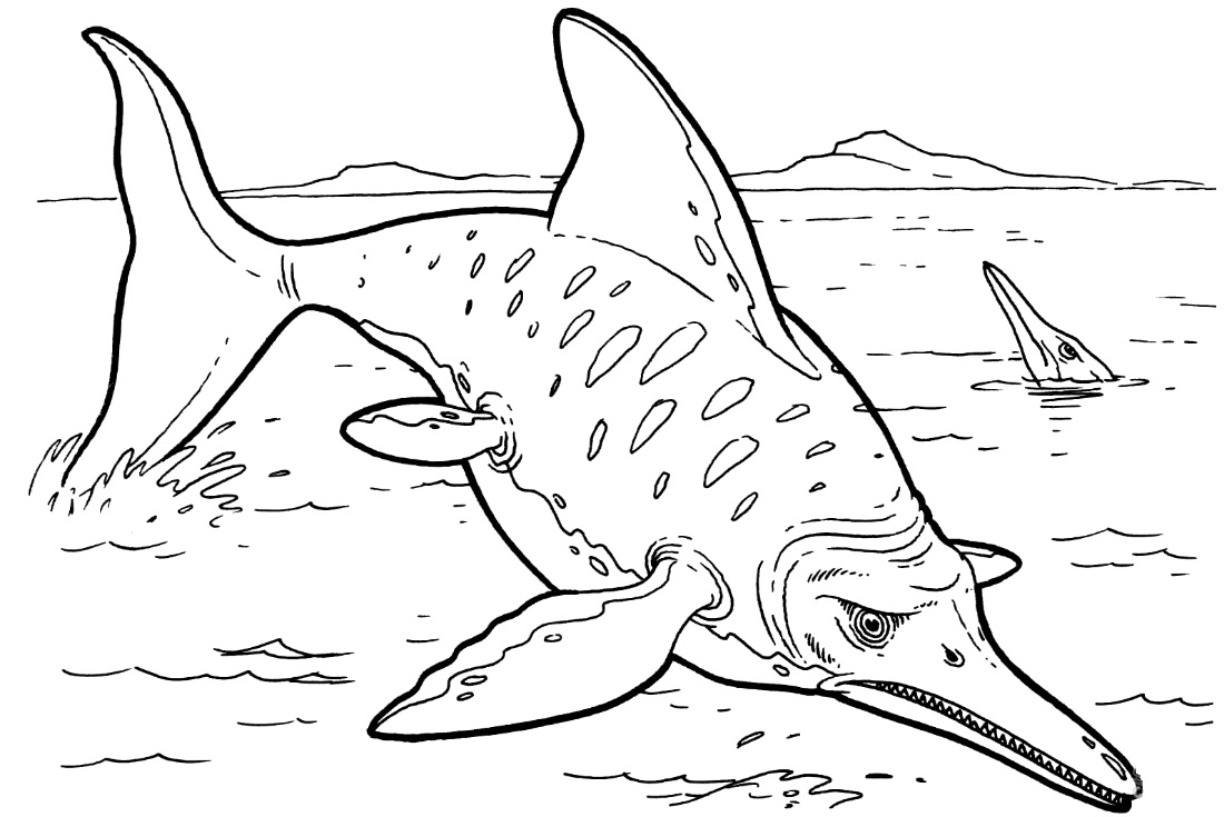 Ichthyosaur Dinosaurs Coloring