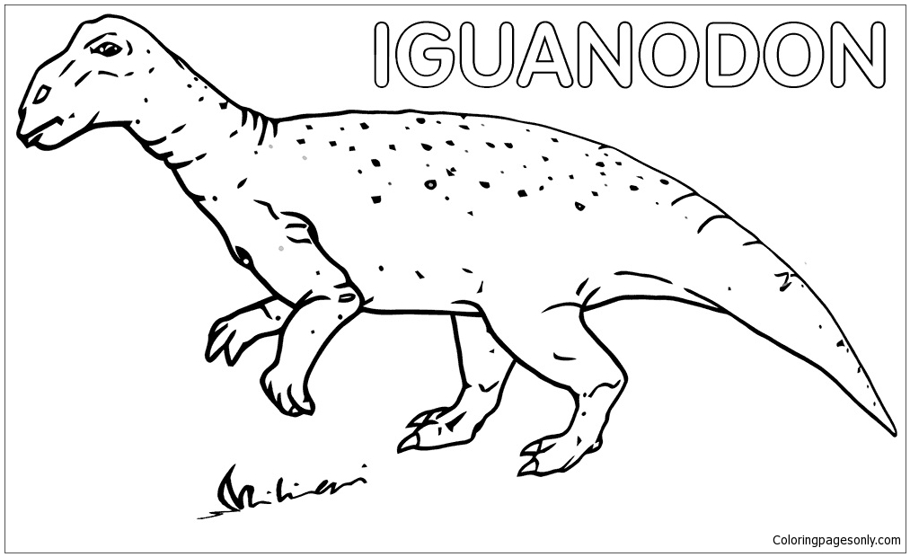 Iguanodon 1 Coloring Page