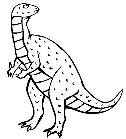 Iguanodon 4 Coloring Page