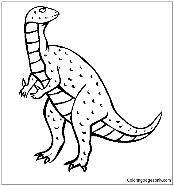 Iguanodon 4 coloring page free coloring pages online for Iguanodon coloring page