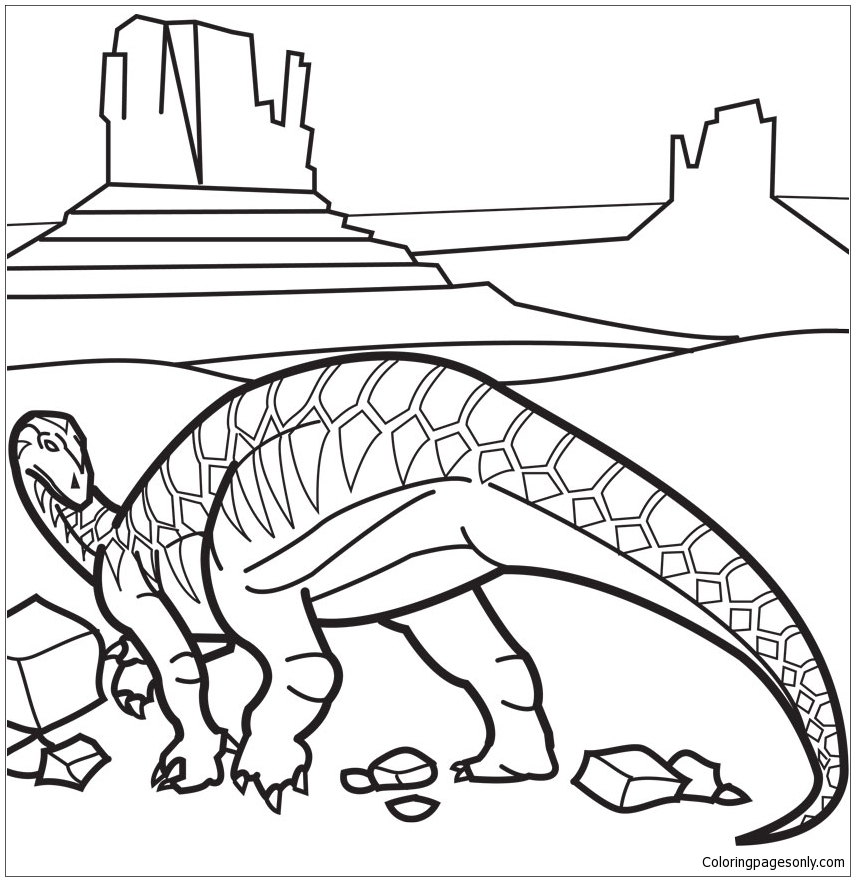 Iguanodon 5 Coloring Page