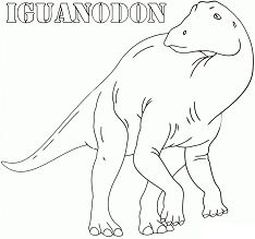 Iguanodon 6 Coloring Page