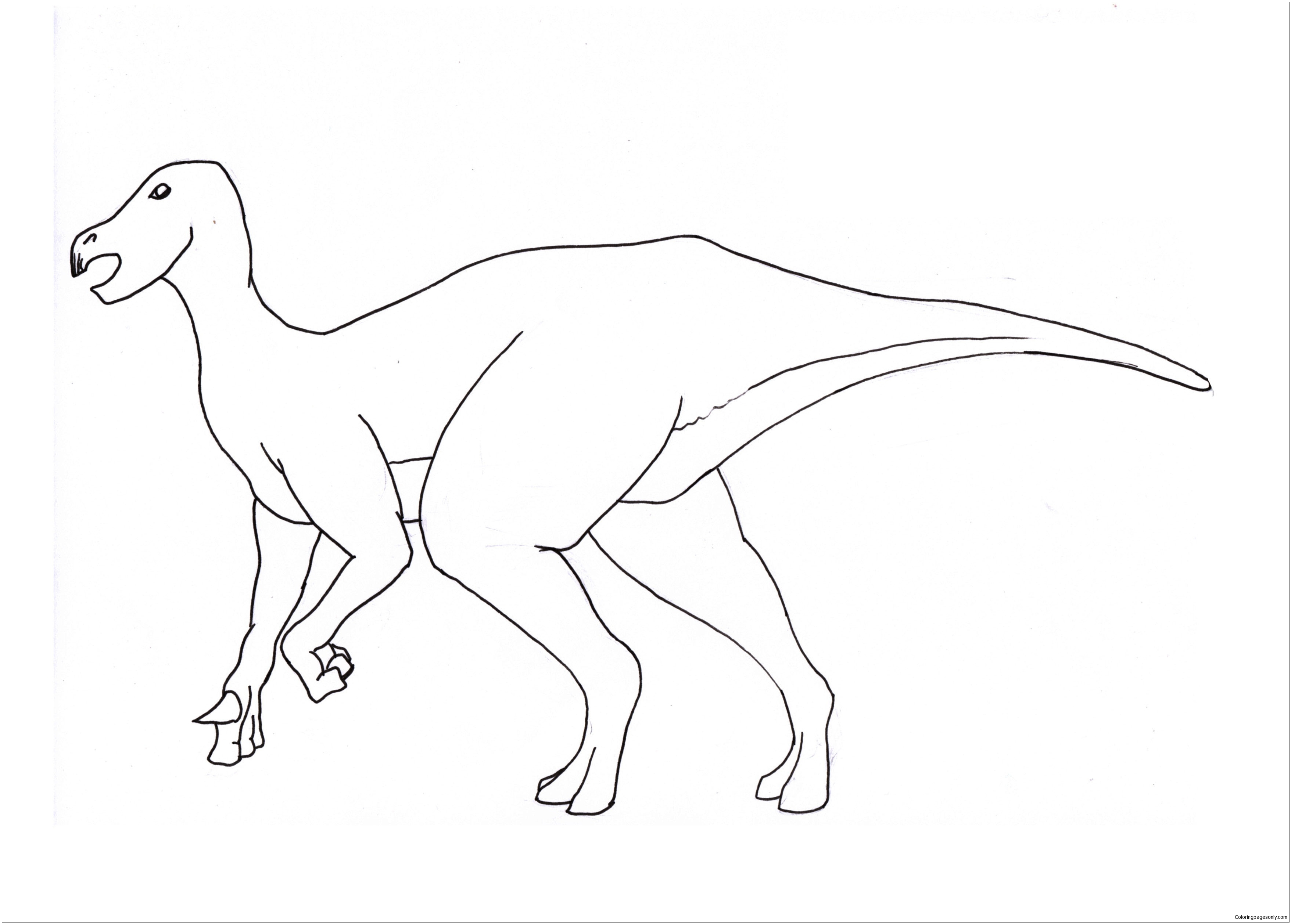 Iguanodon Dinosaur 1 Coloring Page