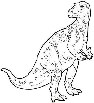 Iguanodon Dinosaur 2 Coloring Page