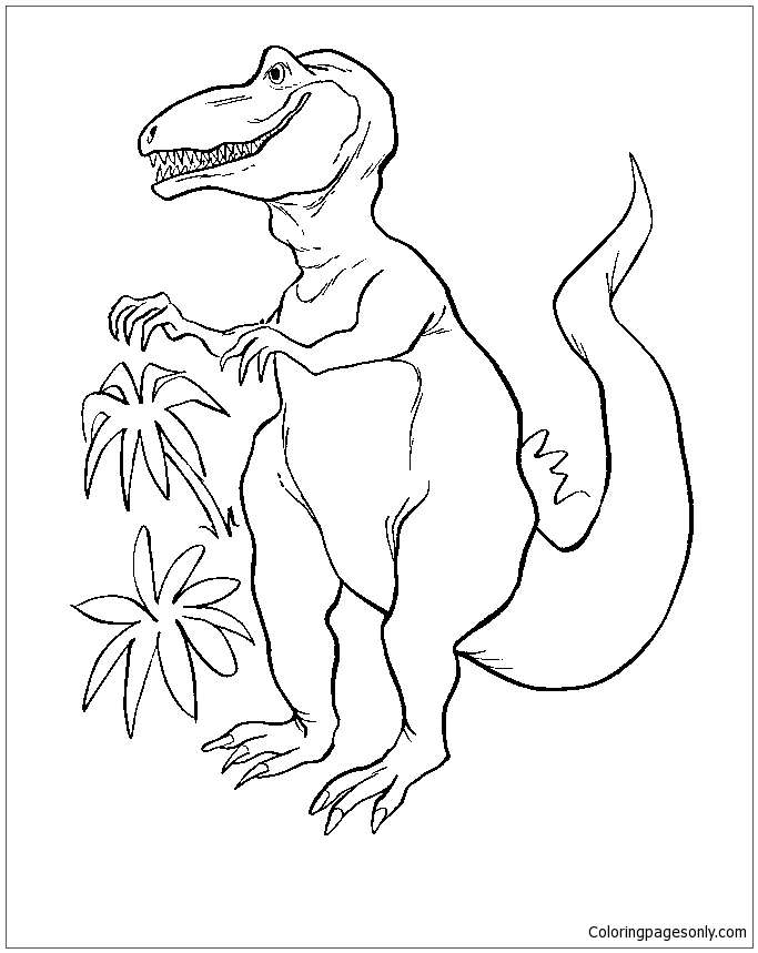 Iguanodon Dinosaur 4 Coloring Page - Free Coloring Pages Online