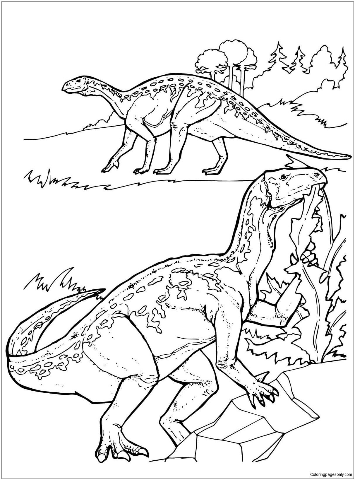 Iguanodon Dinosaurs 1 Coloring Page