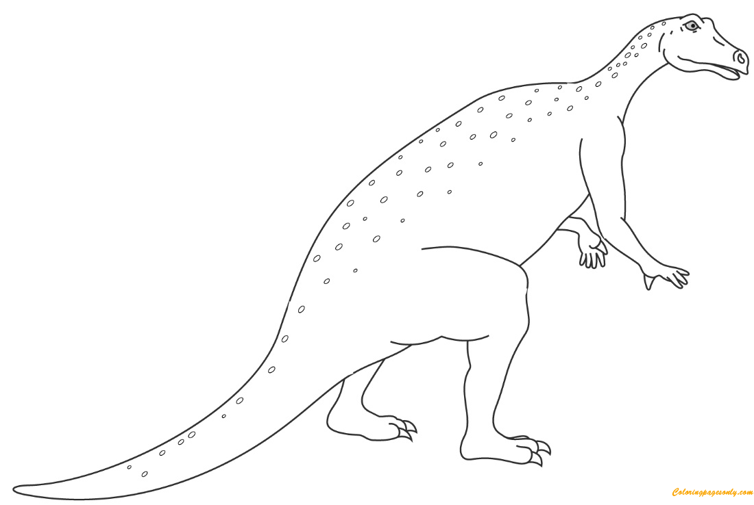 Iguanodon Jurassic Dino Coloring Page
