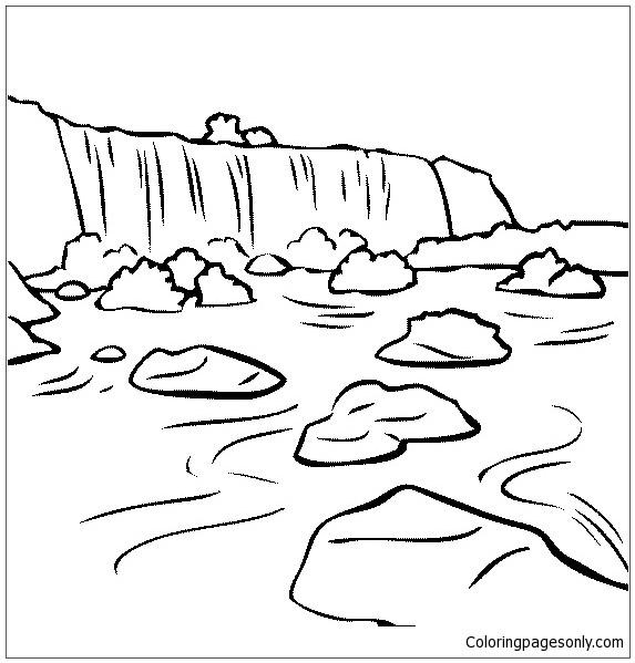 Iguazu falls coloring page free coloring pages online for Niagara falls coloring page