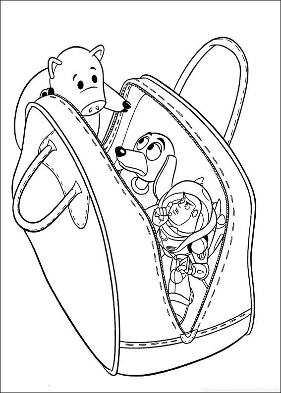 In the bag Coloring Page