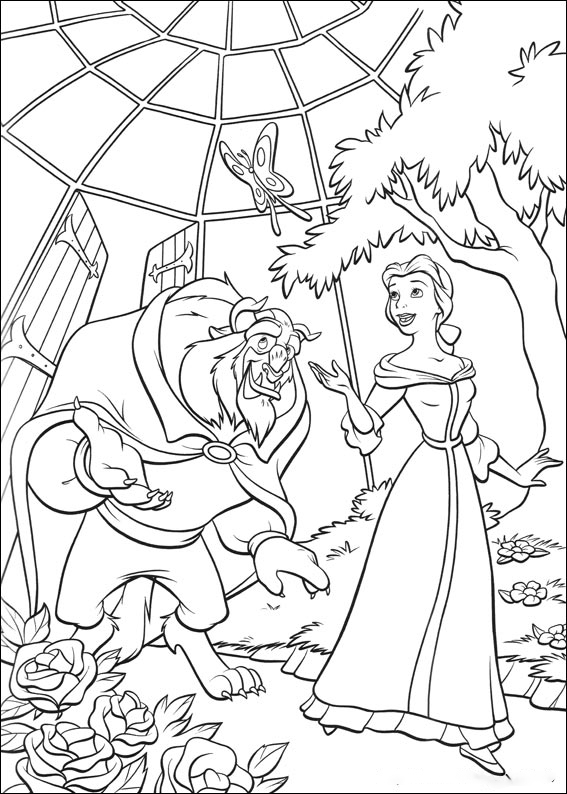 In the garden Coloring Page