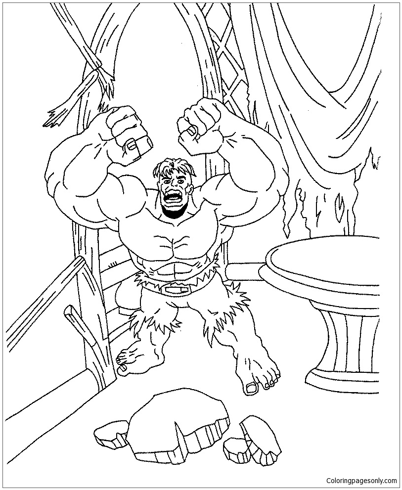 Free Printable Hulk Coloring Pages For Kids | 991x813