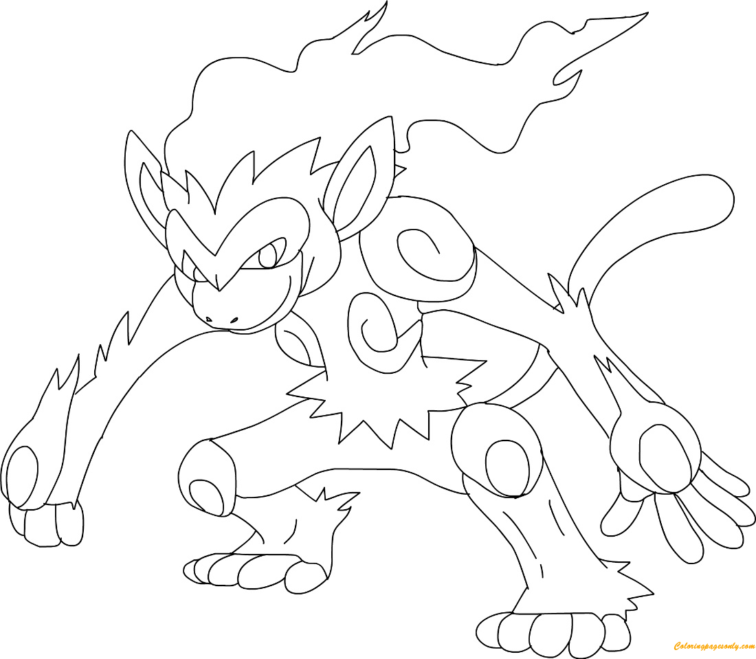 Infernape Coloring Page Free Coloring Pages Online
