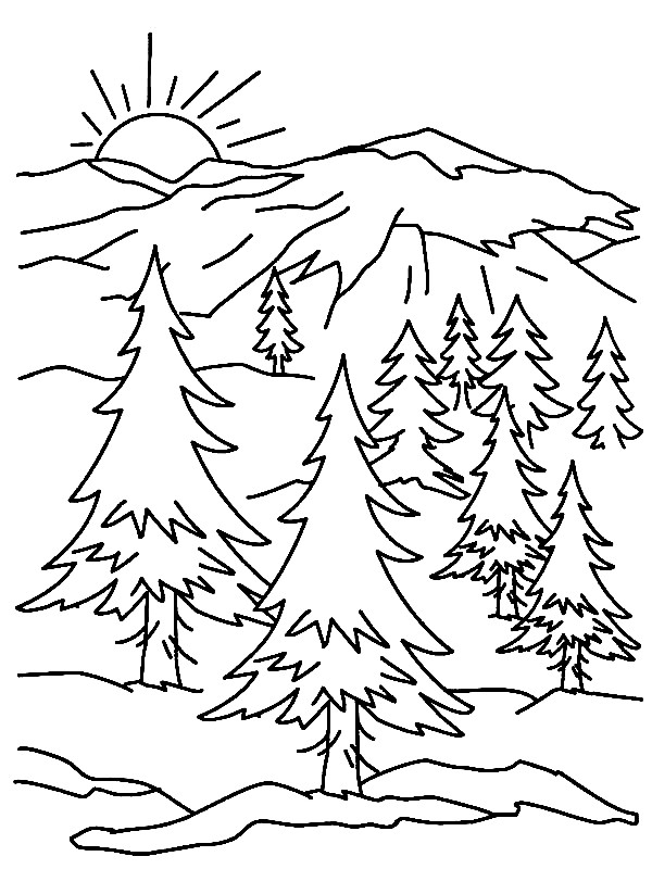 Innovative Ideas Mountain Coloring Page