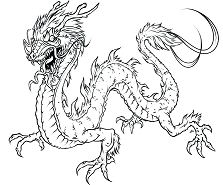 Insider Chinese Dragon Coloring Page