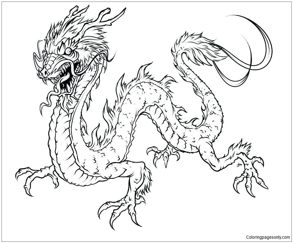 Insider Chinese Dragon Coloring Page - Free Coloring Pages Online