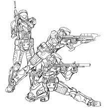 Insider Halo Spartan Coloring Page