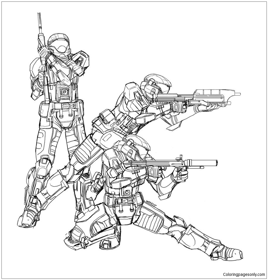 Fearless Xbox Halo 3 Coloring Sheets | Halo 3 | Free | 954x913