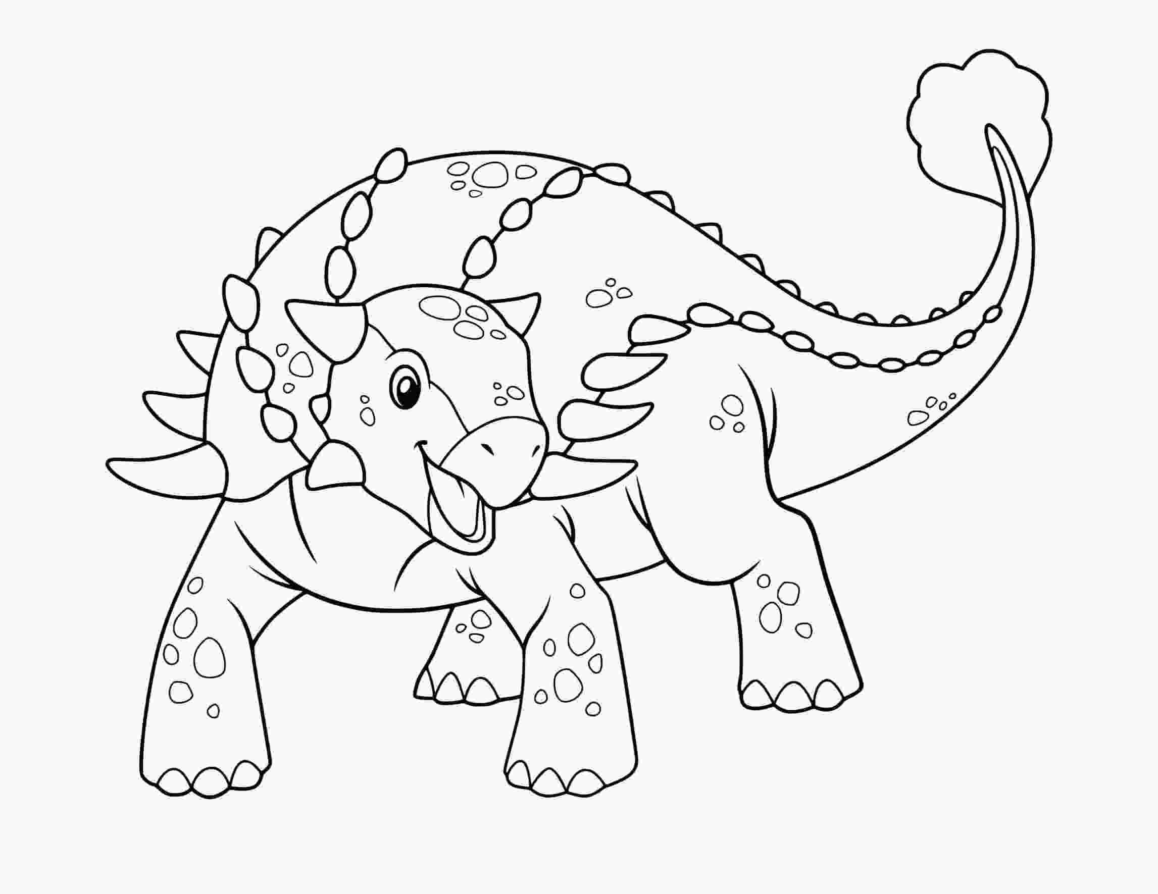Inspiration Dinosaurus cute Ankylosaurus Coloring Page