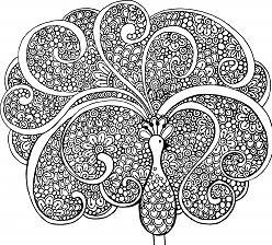 Inspiration Graphic Advanced Mandala Coloring Page