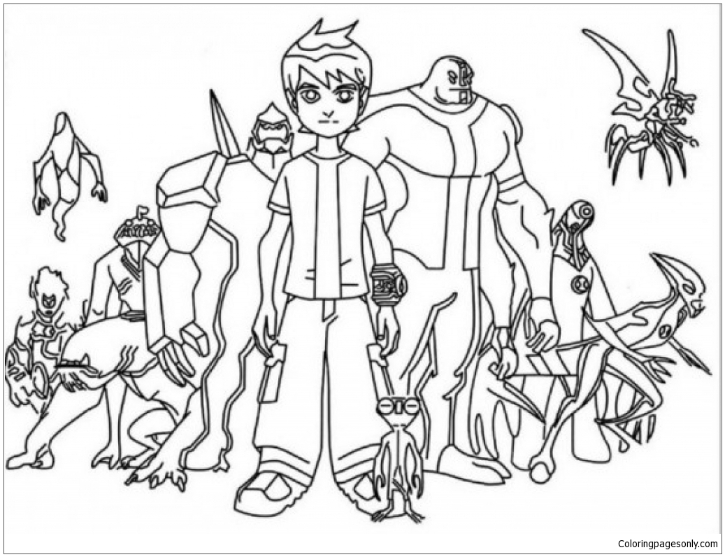 Inspiring Ben 10 Coloring Page - Free Coloring Pages Online