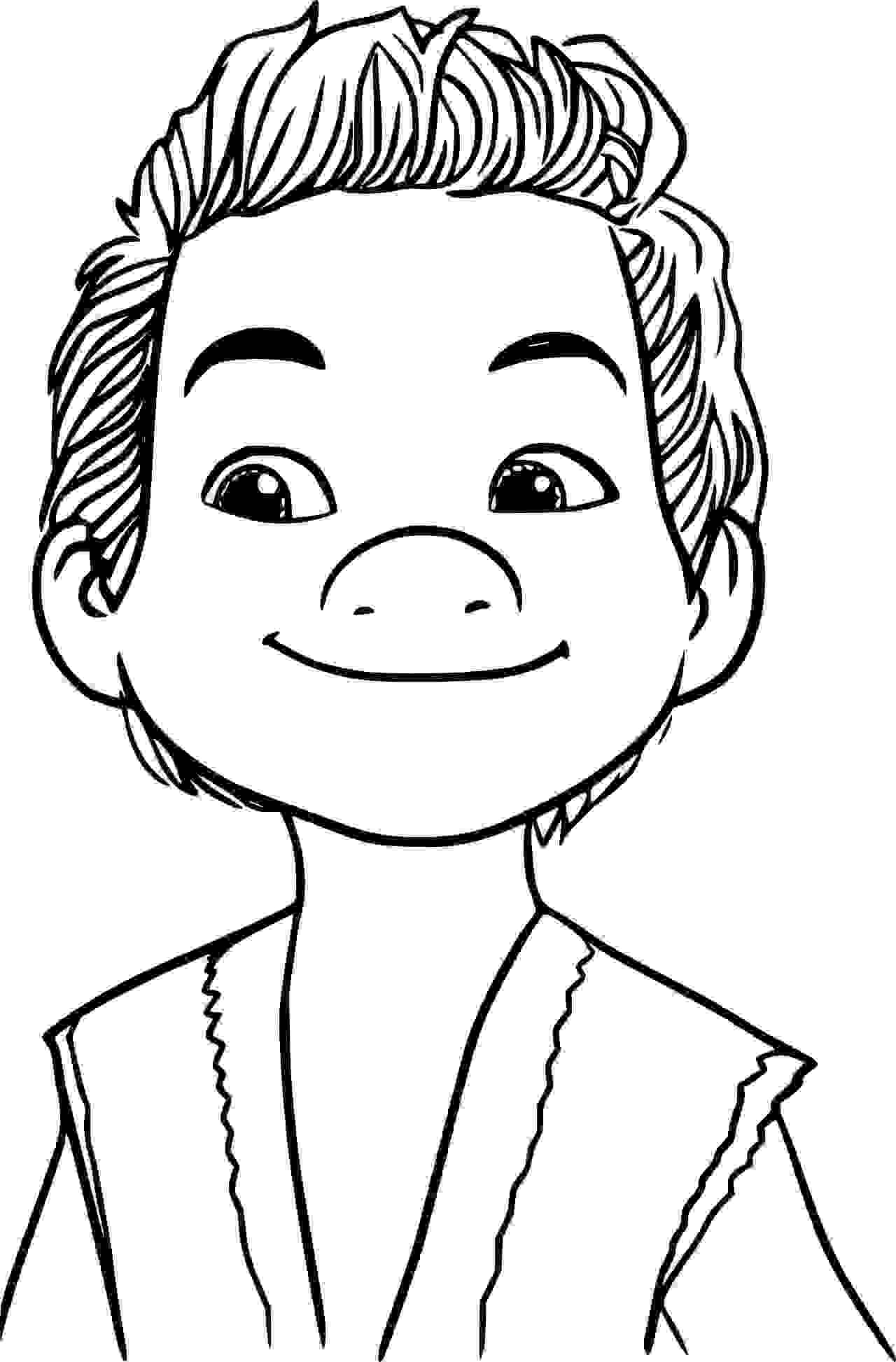 Intelligent Bound Kid Captain Coloring Page